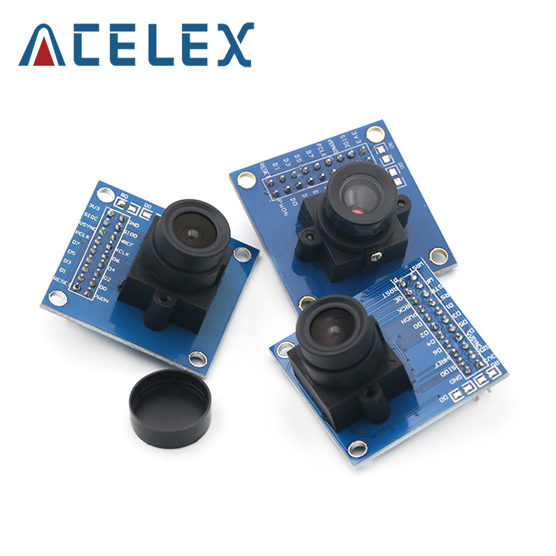 OV7670 camera module OV7670 moduleSupports VGA CIF auto exposure control display active size 640X480 For Arduin|Instrument Parts & Accessories|   - AliExpress