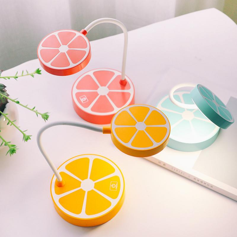 Creative Lemon LED Small Table Lamps Fruit Shape Touching Induction Dimmable Lights Bedside Bedroom Night Lighting 3