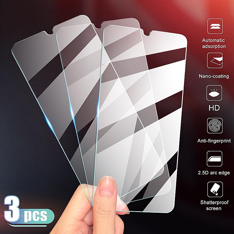 Redmi 8 8A 7 7A 6 6a에 대 한 3Pcs 보호 유리 Xiaomi Redmi 참고 8T 8 7 6 프로 강화 유리 9H HD
