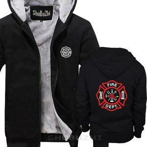 Image 2 - VIGILE DEL FUOCO VIGILI del FUOCO di SALVATAGGIO EMT del pullover degli uomini di caldo coathick giacca di modo di marca top con cappuccio sbz5694