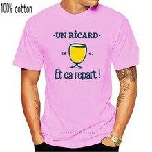 T-Shirt Un Ricard et ca repart! 100% coton hommes t-shirt Haut Pour Femme T-shirt o-cou Manches Courtes Drôle t-shirts