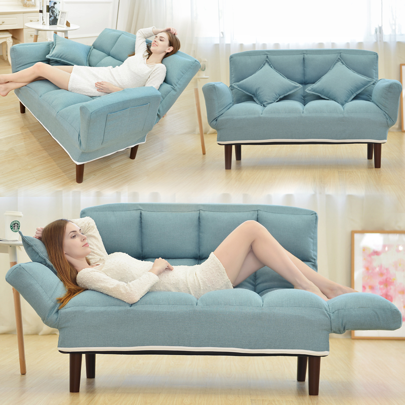 Folding Office Sofa Bed Lounge Chair With 2 Pillows Folding Bed Chair Living Room Armchair Recliner Sofas High Quality