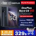 Чехол из ПВХ для OnePlus Nord CE 5G смартфон 8 ГБ 128 и 12 Гб 256GBSnapdrago 750G Warp заряжайте 30T Plus 4500 мА/ч, 90 Гц активно-матричные осид, официальный