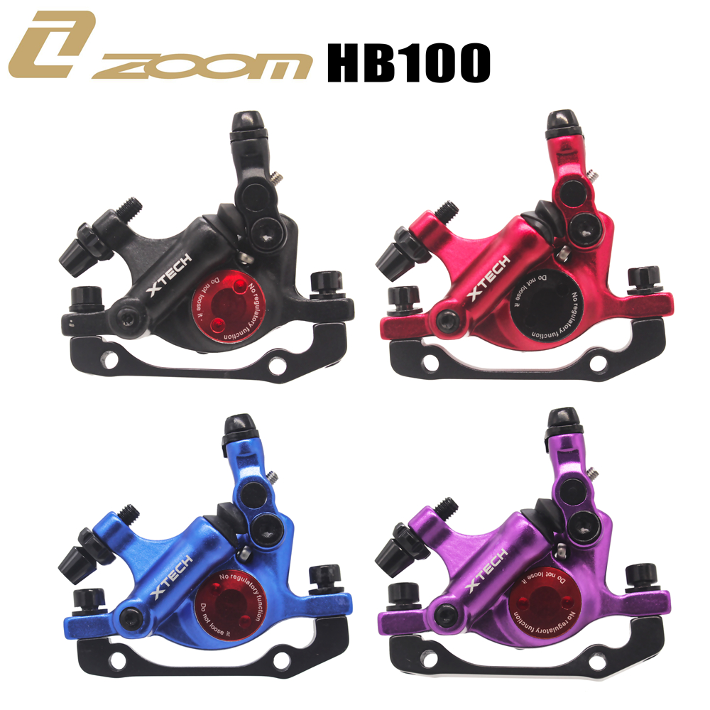 ZOOM XTECH HB100 MTB Line Pulling Hydraulic Disc Brake Calipers with Rotors 7