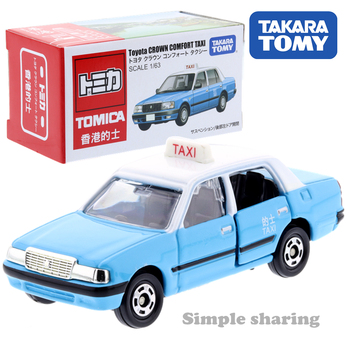Takara Tomy Tomica Toyota Crown Comfort Taxi Blue Miniature Car Scale 1/63 Kids Toys Motor Vehicle Diecast Metal Model image