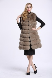 Image 5 - Medium And Long Fashion Fox Fur Vest Womens Winter Fur Coat Vest Artificial Fur Fuake  Jackets Plus Size Overcoat S 3XL