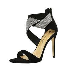 цена на Rhinestones Lady Dress Shoes Women Pumps Festival Party Wedding Shoes Formal Pumps Nightclub Stilettos High Heels Sandals FIS245