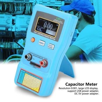 MEC-100 Capacitor Meter, High Precision Digital Display Automatic Range Electrolytic Capacitance ESR Meter,Capacitor Meter Teste