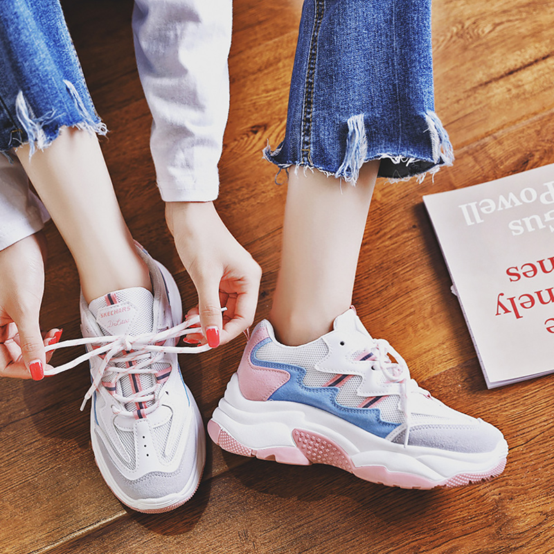Sneakers Women Platform Sneakers Lace up Wear Resistant Comfortable Spring Autumn Female Tennis Shoes Casual