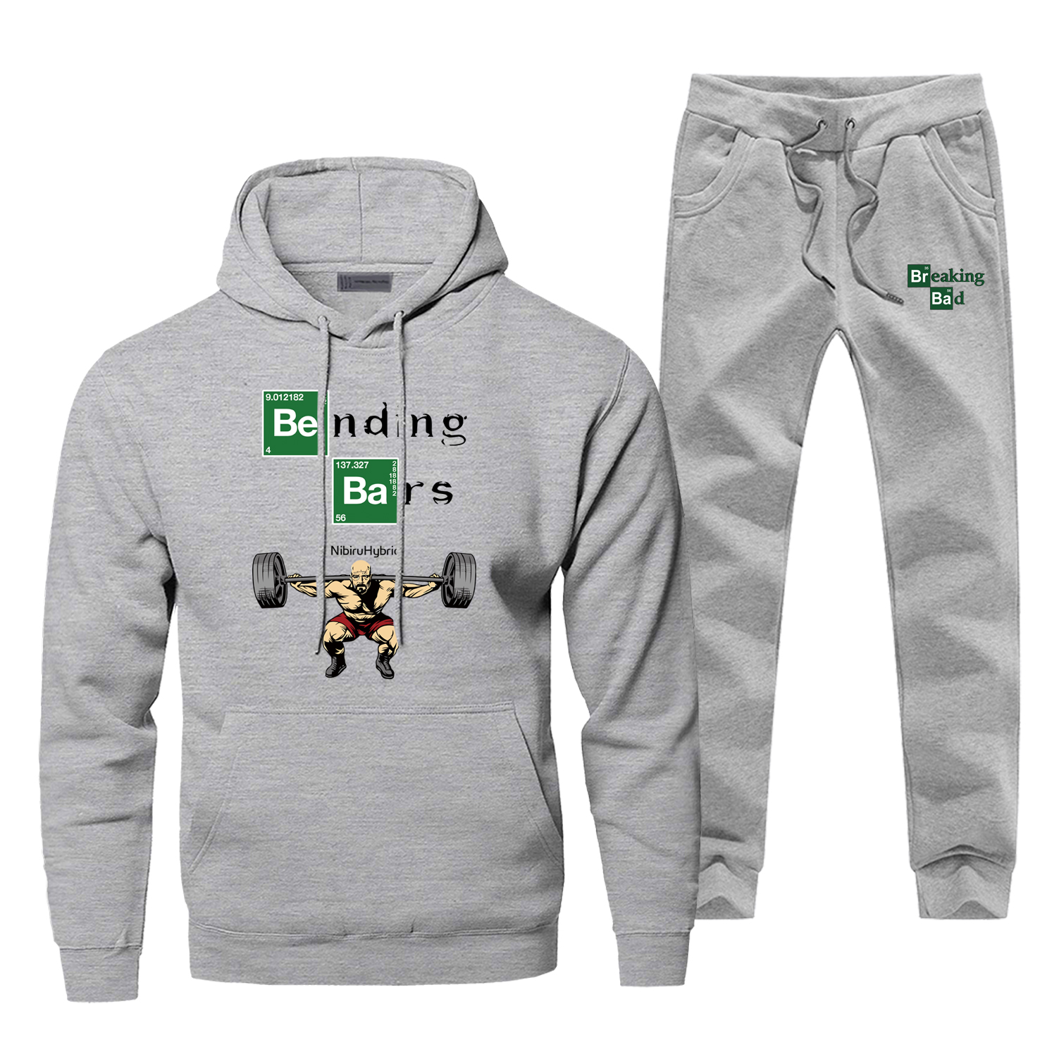 Breaking Bad Casual Men's Sets Motivation High Quality Warm Male Sets Fashion Walter White Gym Funny Men's Full Suit Tracksuit