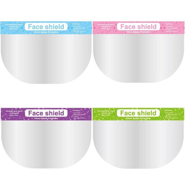 5Pcs New Anti-saliva Child Kid Transparent Protective Mask Adjustable Dust-proof Full Face Cover Children Mask Visor Shield 4