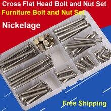 Nut Bolt-Flange-Nut Furniture M6 And Screw-Hammer Hardware-Accessories Combination-Set