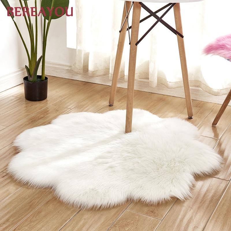 Tapis de fourrure nordique et tapis pour la maison salon chambre tapis chambre enfants chambre chaise couverture moderne tapis rond tapis chambre