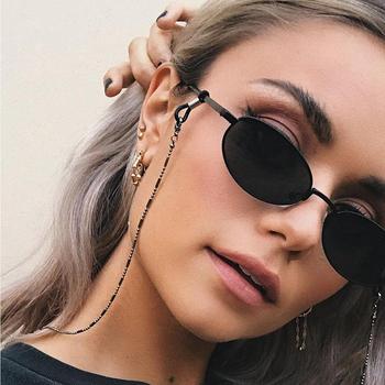 2020 nowa smycz do okularów koralik łańcuszek do okularów modne okulary pasek okulary sznury Casual akcesoria do okularów tanie i dobre opinie CN (pochodzenie) Unisex Metal 70cm lanyard Ze stopu cynku Stałe chain for glasses