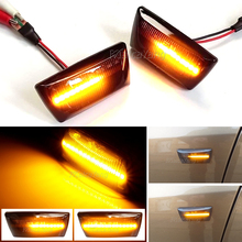 2pcs Dynamic Side Marker Flowing Lights Car Styling LED Side Indicator Turn Signal Light For Opel Astra H MK5 2004 2014