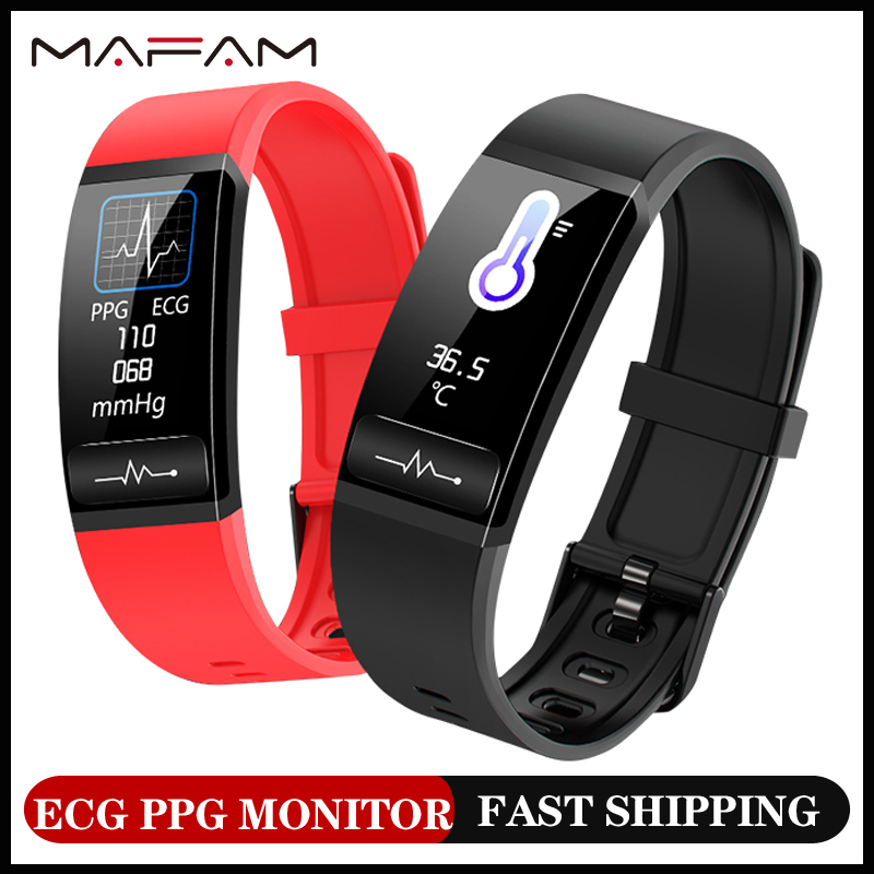 MAFAM M8s P11 ECG Smart band watch Heart Rate Monitor PPG Smart Bracelet Blood Pressure Tthemometer Smart Clock Wristband