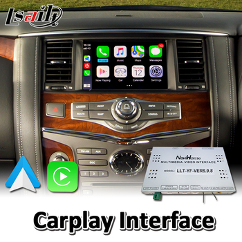Lsailt Wireless Carplay Interface for Infiniti QX80 2012-2017 Year Wired Android Auto Youtube Video Music Play image