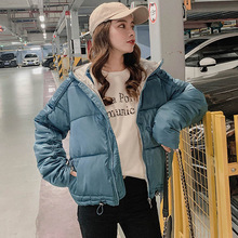 Winter jacket for women Short parkas coat Autumn Casual bat sleeved style female thick warm sintepon