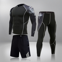 Man Compression Sports Suit Quick Drying Perspiration Fitness Training Kit Male Sportswear Jogging Running Clothes