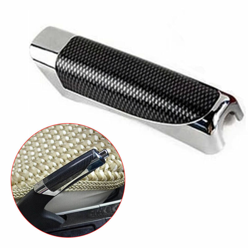 Car Carbon Fiber Style E Hand Brake Break Universal Protector Decoration Cover Hand Brake Protector