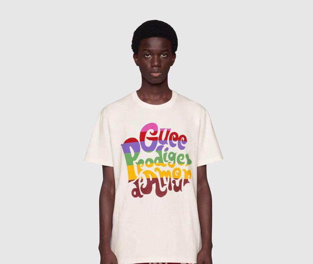 2021, Классическая Дизайнерская футболка с логотипом, мужские и женские повседневные футболки с кайтом, высококачественные топы с биркой внутри, черная/белая модная футболка B4
