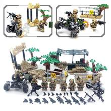 377PCS Building Blocks Wolf Teeth Field Team Educational Puzzles Military Dolls for Children(China)