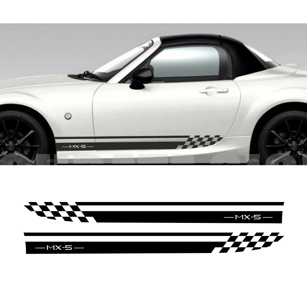 2pcs For Mazda Mx5 Side Stripes Car Decals Graphics Car Sticker Tu-887980