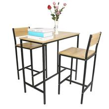Dining Room Furniture Sets A Set Of 3 Oak High Back Table And Chair Sets Dining Table Set Furniture Kitchen Table Set HWC