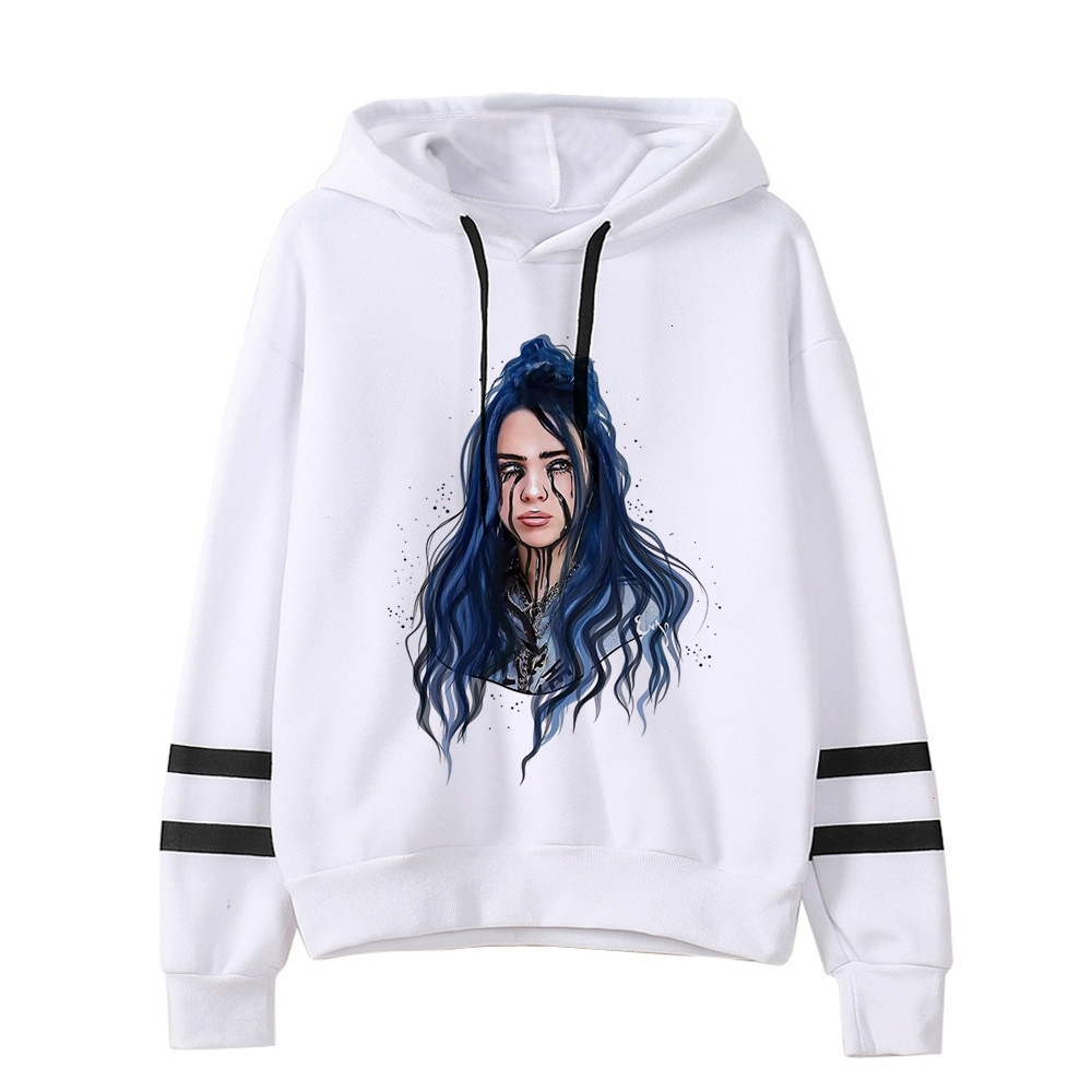Billie Eilish Hoodies Men/women Funny Hip Hop Fashion Kawaii Sweatshirt Graphic Harajuku 90s Tumblr Hooded Streetwear Male