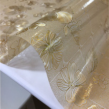 PVC table cloth waterproof and oil-resistant soft glass table mat high temperature resistant aging coffee table pad table cloth