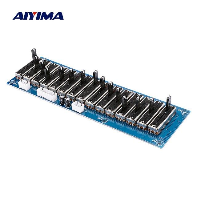 AIYIMA EQ 이퀄라이저 보드 무대 전문 톤 프리 앰프 스테레오 5/10/15 도로 프리 앰프 이퀄라이저 전원