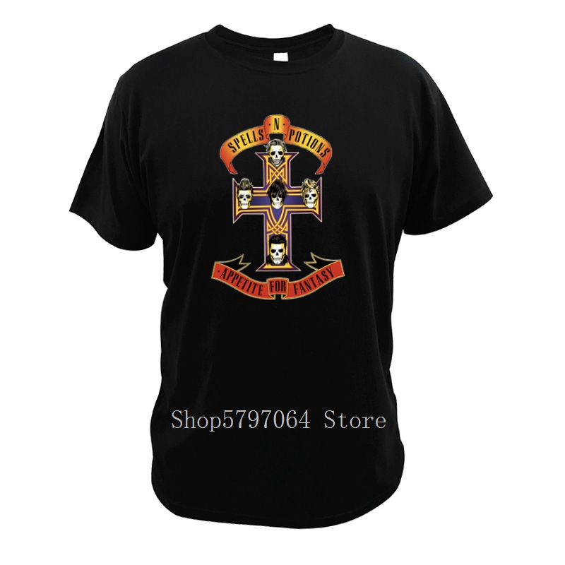 Guns N' Roses T Shirt American Hard Rock Band Digital 100% Cotton Pure Print Witchcraft T-Shirt Video Game Final Fantasy Tshirt image