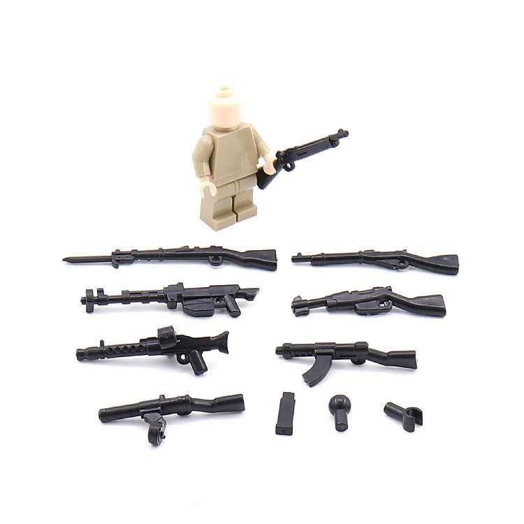 1PCS 0048 Blocos Brinquedos Educativos Arma Moderna Original Swat Polícia Militar Arma Armas Modelo Acessórios Mini figuras Da Cidade