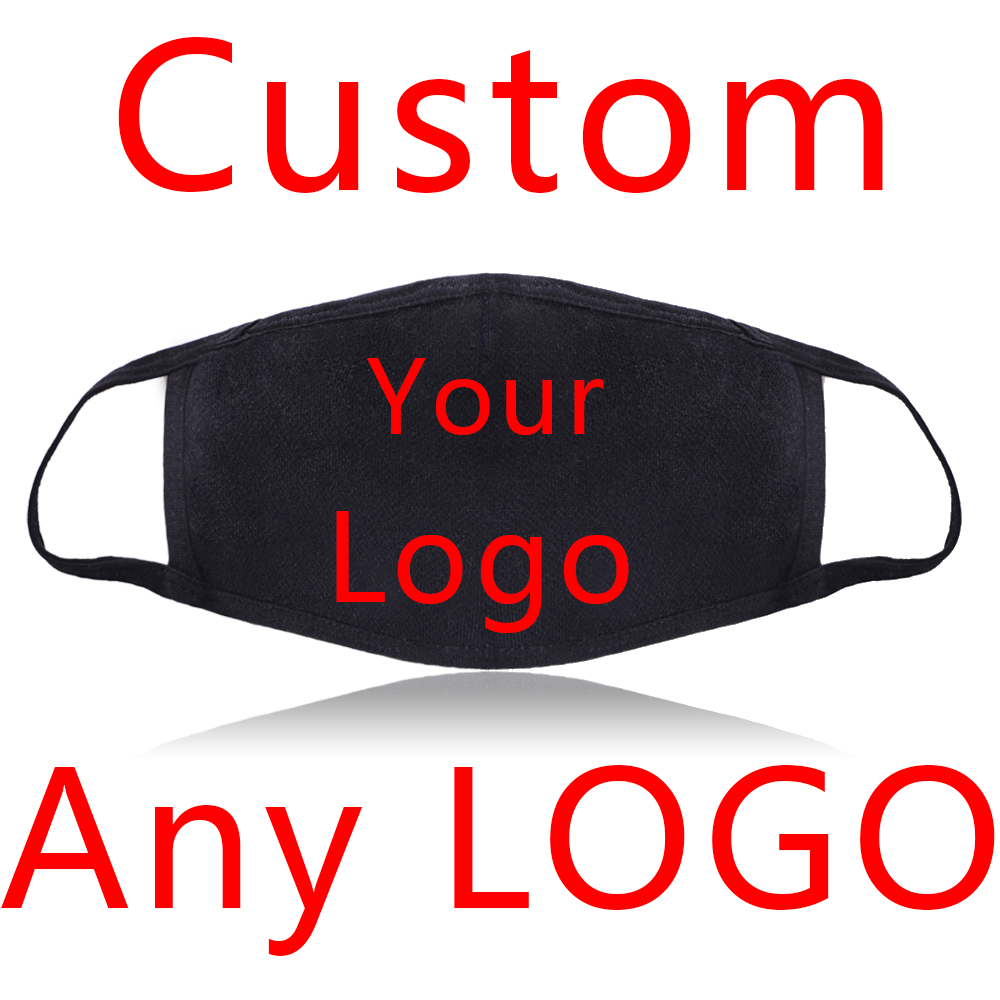 Mask Custom Made Your Logo Mask Any Logo Design Style Dustproof Mouth Face Mask Unisex Black Cycling Anti-Dust Cover Masks