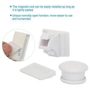 Image 2 - Baby Safety Magnetic Cabinet Lock Set 4 Locks 1 Key Child Proofing Locks Kids Toddler Proof Hidden Dr cerradura invisible