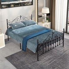 Creative Metal Bed Frame for Small Apartment Home Bedroom Furniture Single Double Iron Bed Frame 2M*1.5M