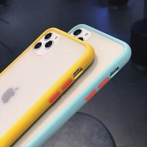 Image 5 - حافظة هاتف سيليكون هجينة شفافة مضادة للصدمات لهاتف آيفون 11 برو ماكس X XS XR 12 Mini 7 8 Plus 6S إطار ناعم غير لامع