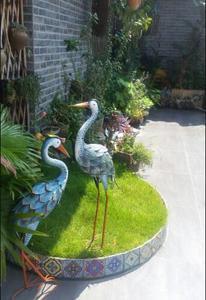 Image 3 - Villa Decorazione del Giardino Country Americano Modello di Decorazione Della Casa Della Decorazione di Ferro Gru gru Giardinaggio Merci