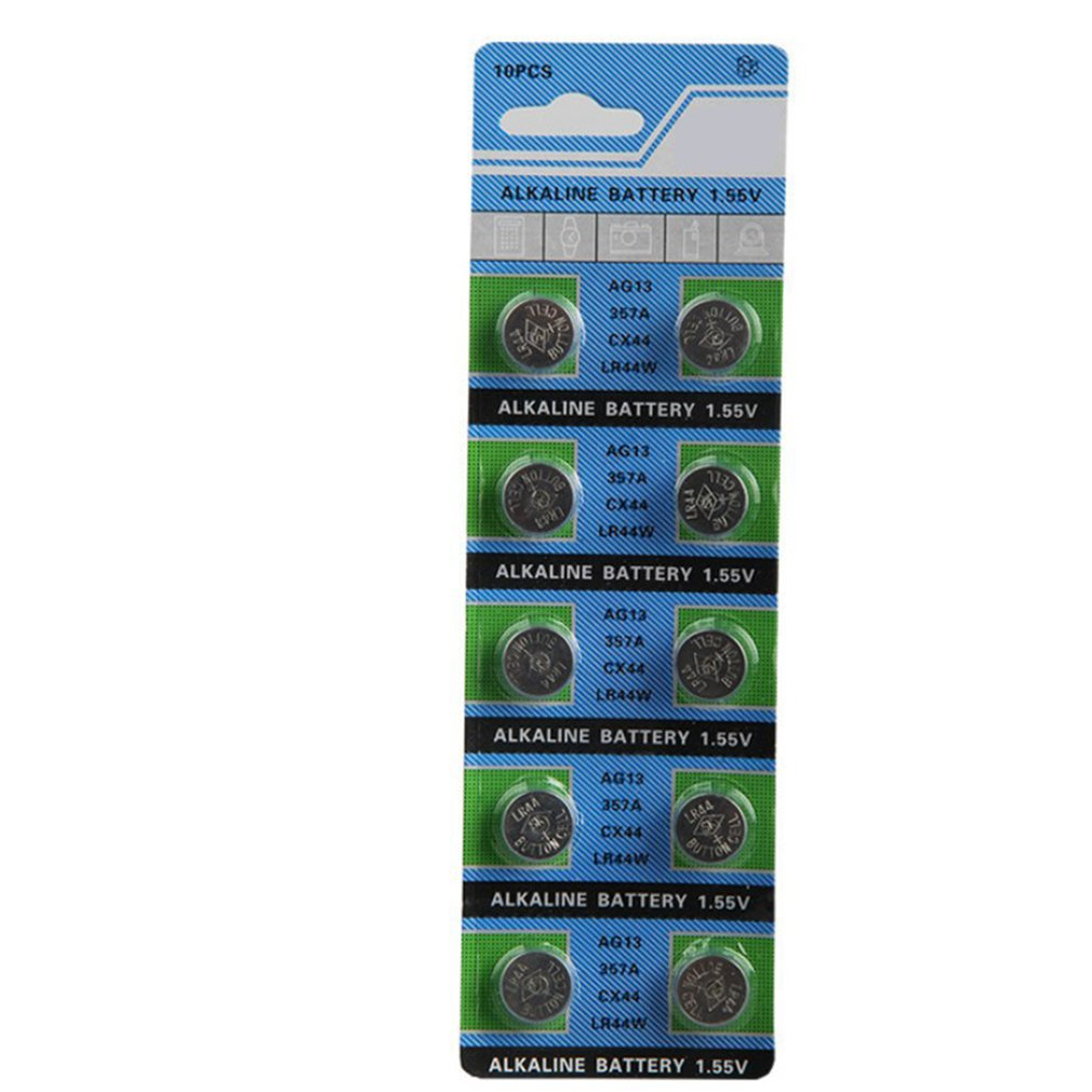 Ag13 кнопка батареи Lr44 слуховой аппарат L1154 Лазерная Игрушка светящийся игрушечный лук батарея
