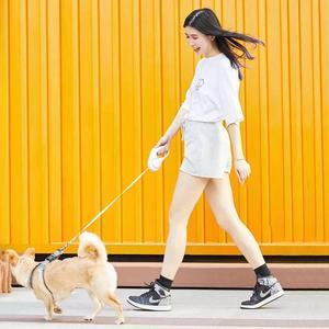 Image 4 - YouPin PETKIT rétractable laisse pour animaux de compagnie chien Traction corde Flexible anneau forme 2.6m avec Rechargeable LED veilleuse