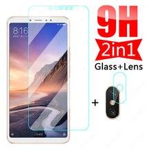 9h vidro protetor no para xiaomi mi max 3 2 câmera lente protetor de tela filme xiaomi mi mix 2 2s 3 caso de filme de vidro temperado