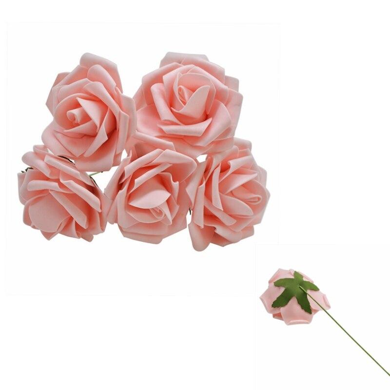 10 шт. 8 см большие ПЭ пенные цветы искусственные розы цветы Свадебные букеты Свадебные украшения для вечеринки DIY Скрапбукинг Ремесло поддельные цветы - Цвет: Peach