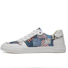 Men Sneakers Soft Leather Casual Shoes Fashion Mens Brand High Quality MenS White Patchwork  4#15/15D50