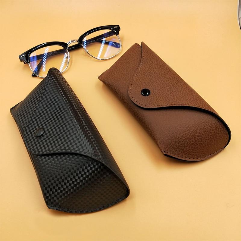 Портативный Футляр для солнцезащитных очков из искусственной кожи, складная коробка, 1 шт., большие мягкие аксессуары для очков, защитная коробка для очков Очки аксессуары    АлиЭкспресс
