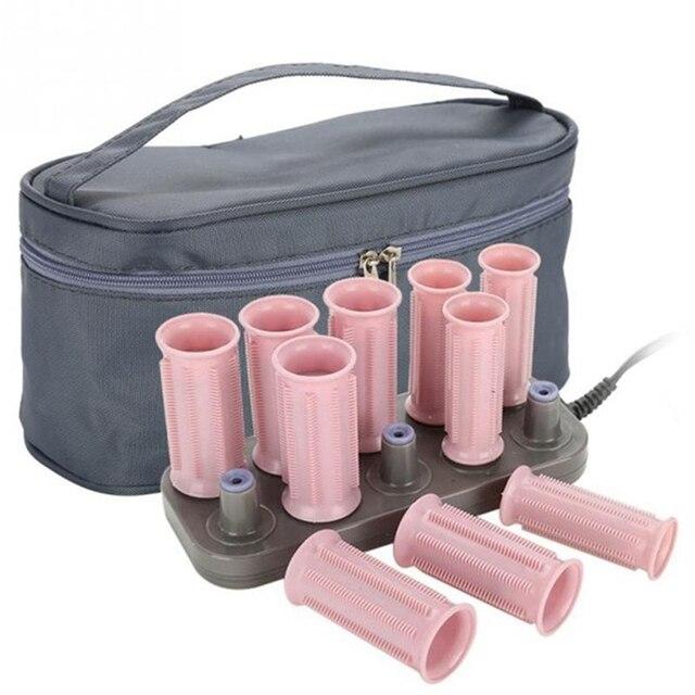 10 pçs rolos de cabelo mágico tubo elétrico rolo aquecido modelador cabelo estilo varas ferramentas diy salão de beleza cuidados com o cabelo ferramentas de estilo eua plug