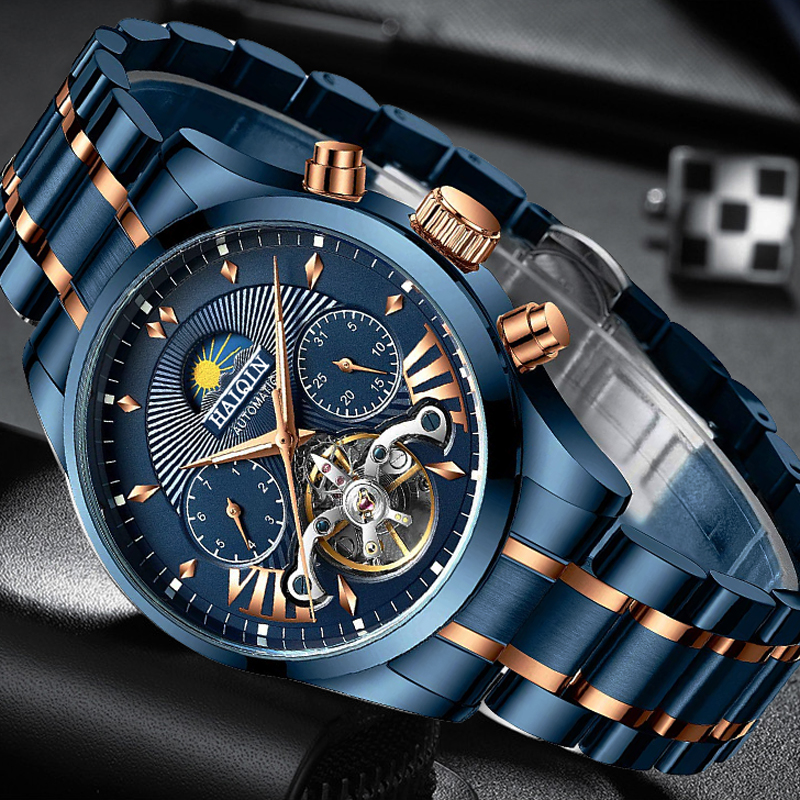 HAIQIN Mechanical Mens/men's Watches Top Brand Luxury Watch Men Business Sport Wristwatch Men Clock 2019 Reloj Hombre Tourbillon