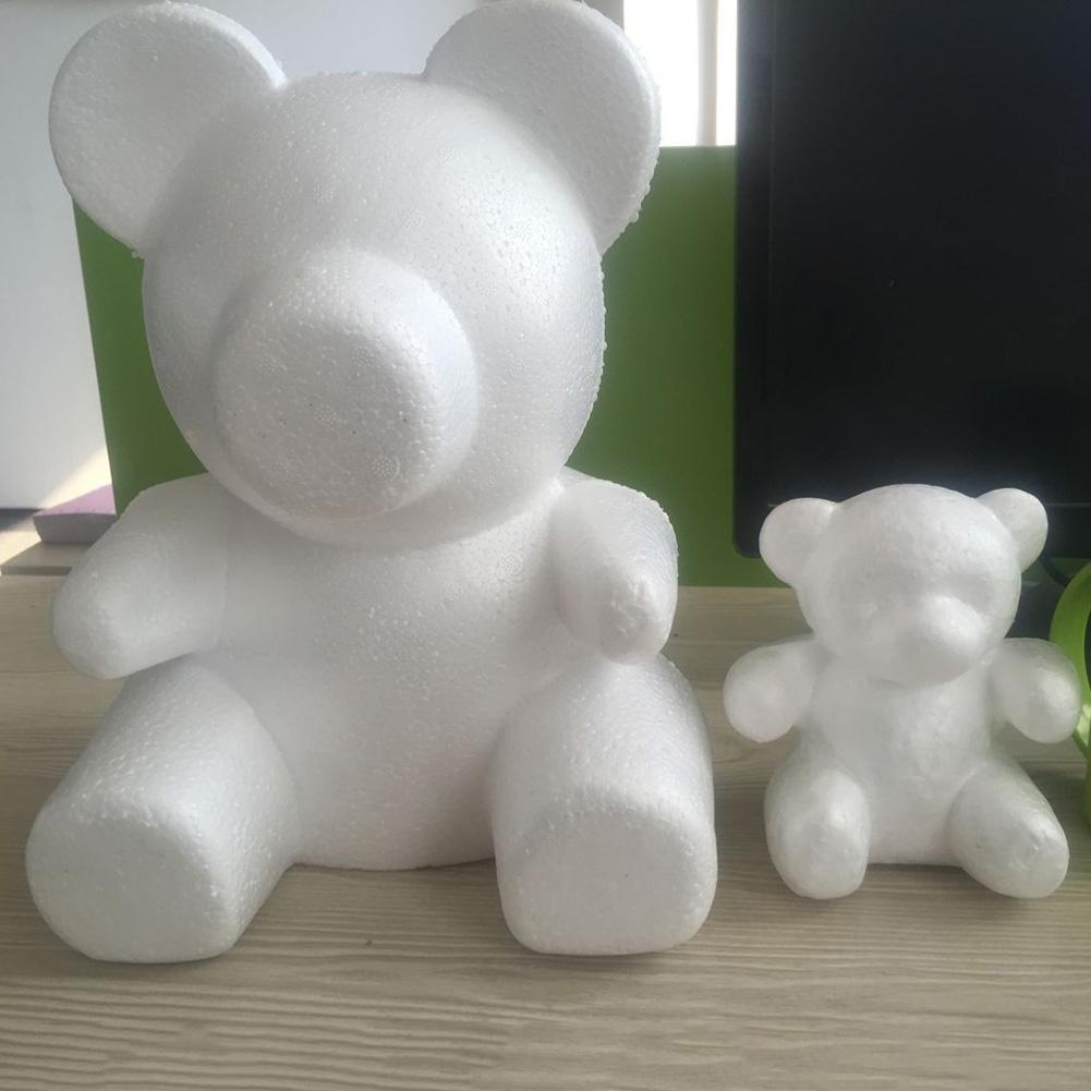 1PC 15cm/20cm/30cm Foam Rose Bear Mold DIY For Gift Polystyrene Styrofoam Foam Ball Artificial Rose Flower Drop Shipping