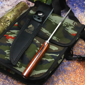 PEGASI  Japanese outdoor straight knife fishing knife jungle hunting knife outdoor sharp tactical knife slicing bone cutter 3