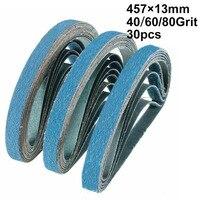 30pcs Zirconia Sanding Belts Polishing Grinding Woodworking Furniture Automotive Metals Abrasive Sander Belts
