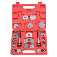 21pcs Auto Universal Disc Brake Caliper Car Wind Back Pad Piston Compressor Automobile Garage Repair Tool Kit Set with Case